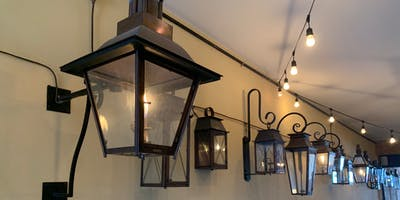 Gas lamps.