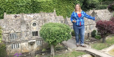 Part of the model village. Natalie for scale.