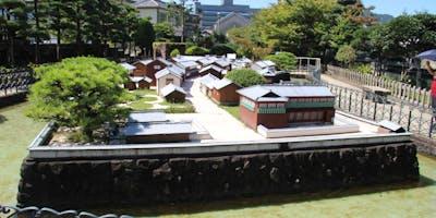 The scale model of Dejima on Dejima.
