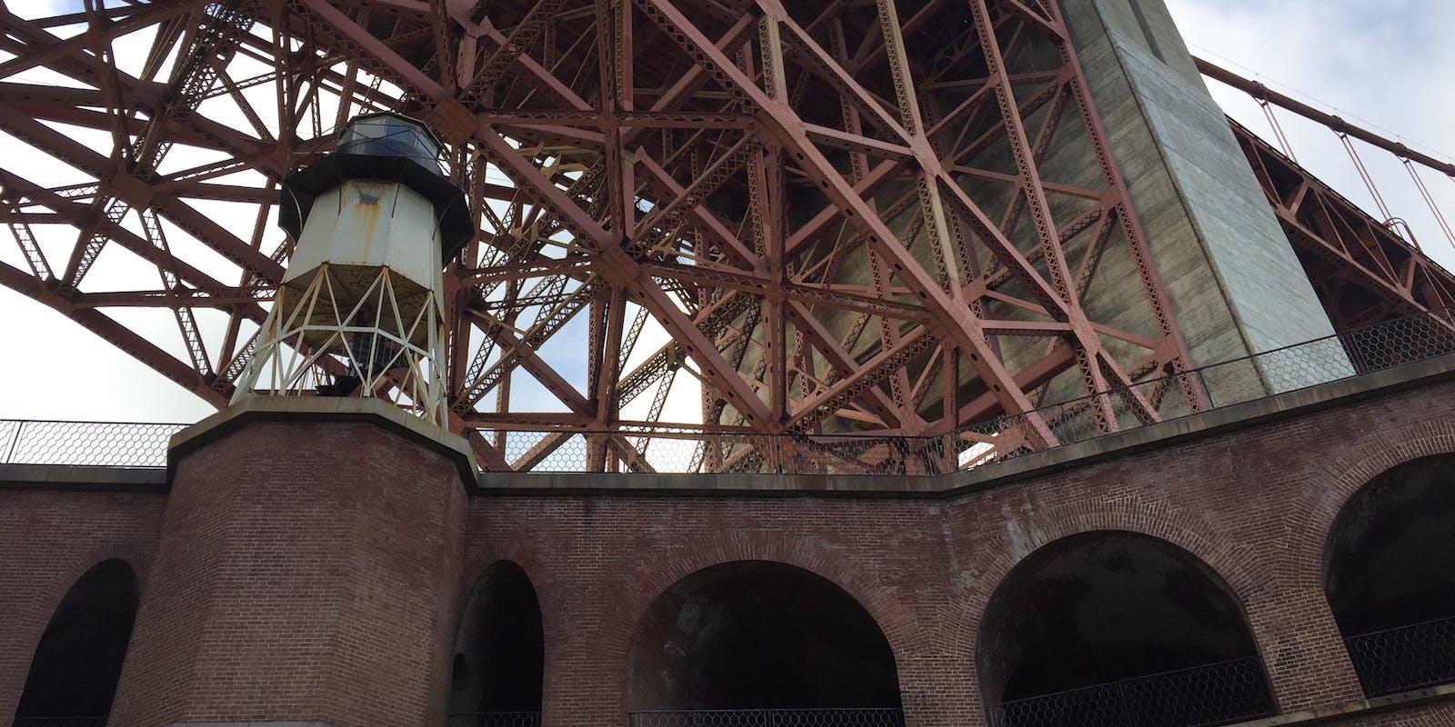 Fort Point under the Golden Gate Bridge.