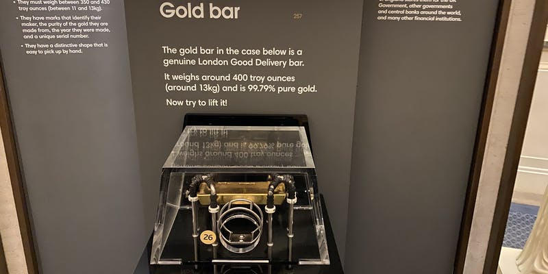 A gold bar you can touch.