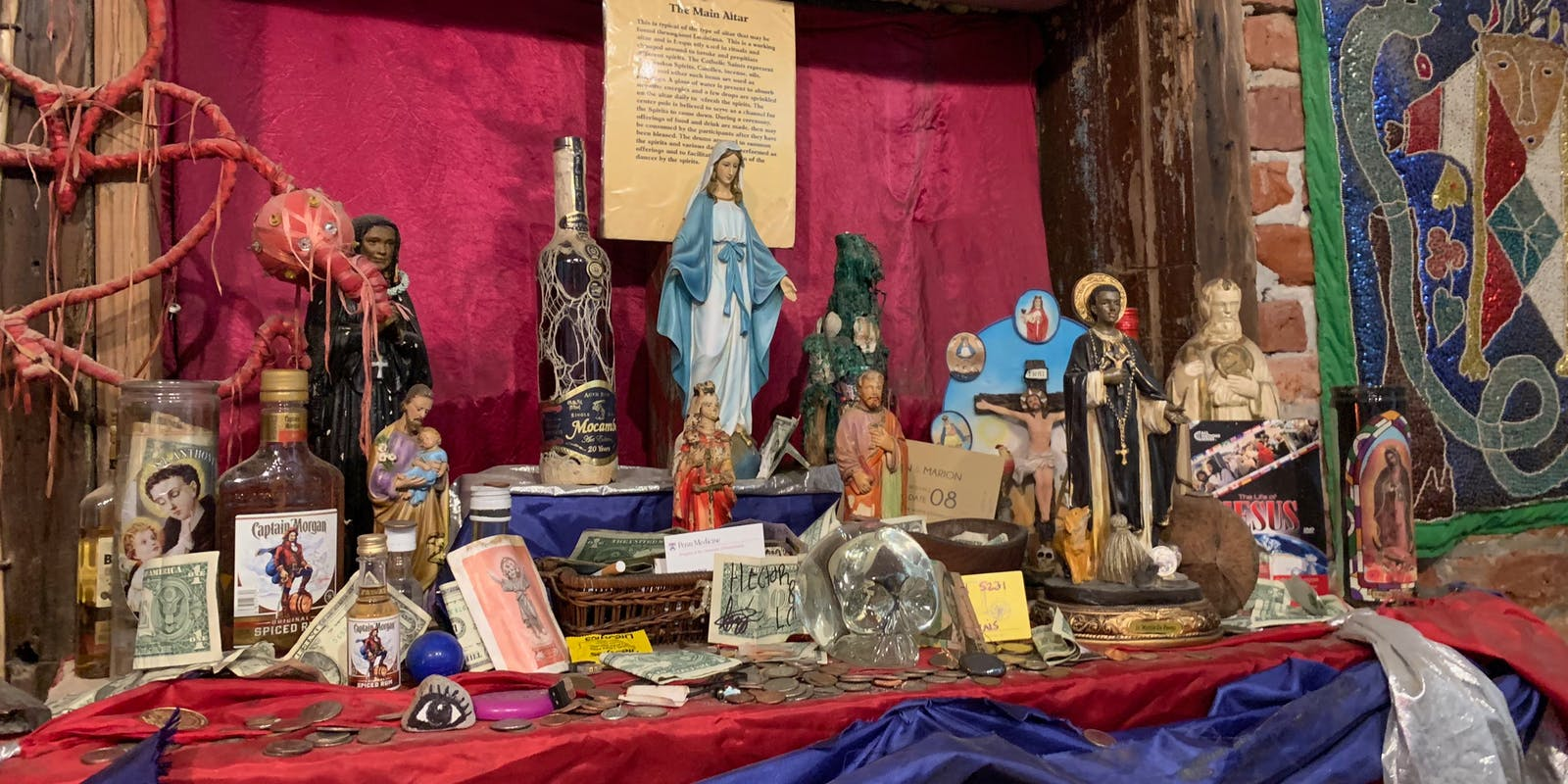 An altar in the voodoo museum.