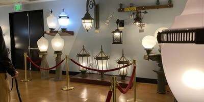 Street lights in the museum.