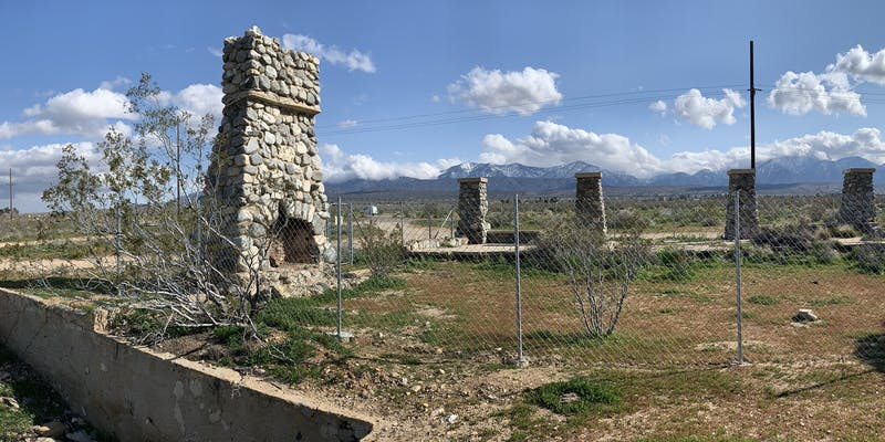 The ruins of Llano del Rio.