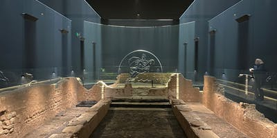 The Mithraeum, illuminated.