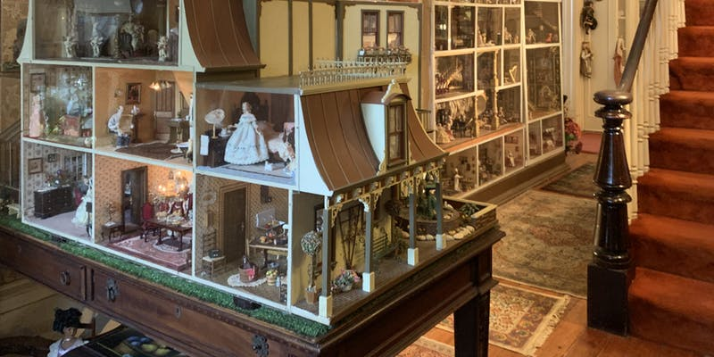 Dolls houses in the hall.