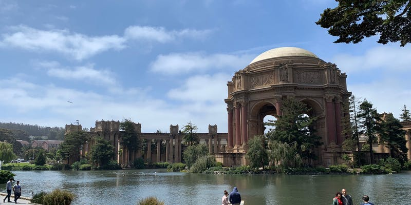 The Palace of Fine Arts, from across the lake.