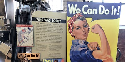 Rosie the Riveter posters in the museum.