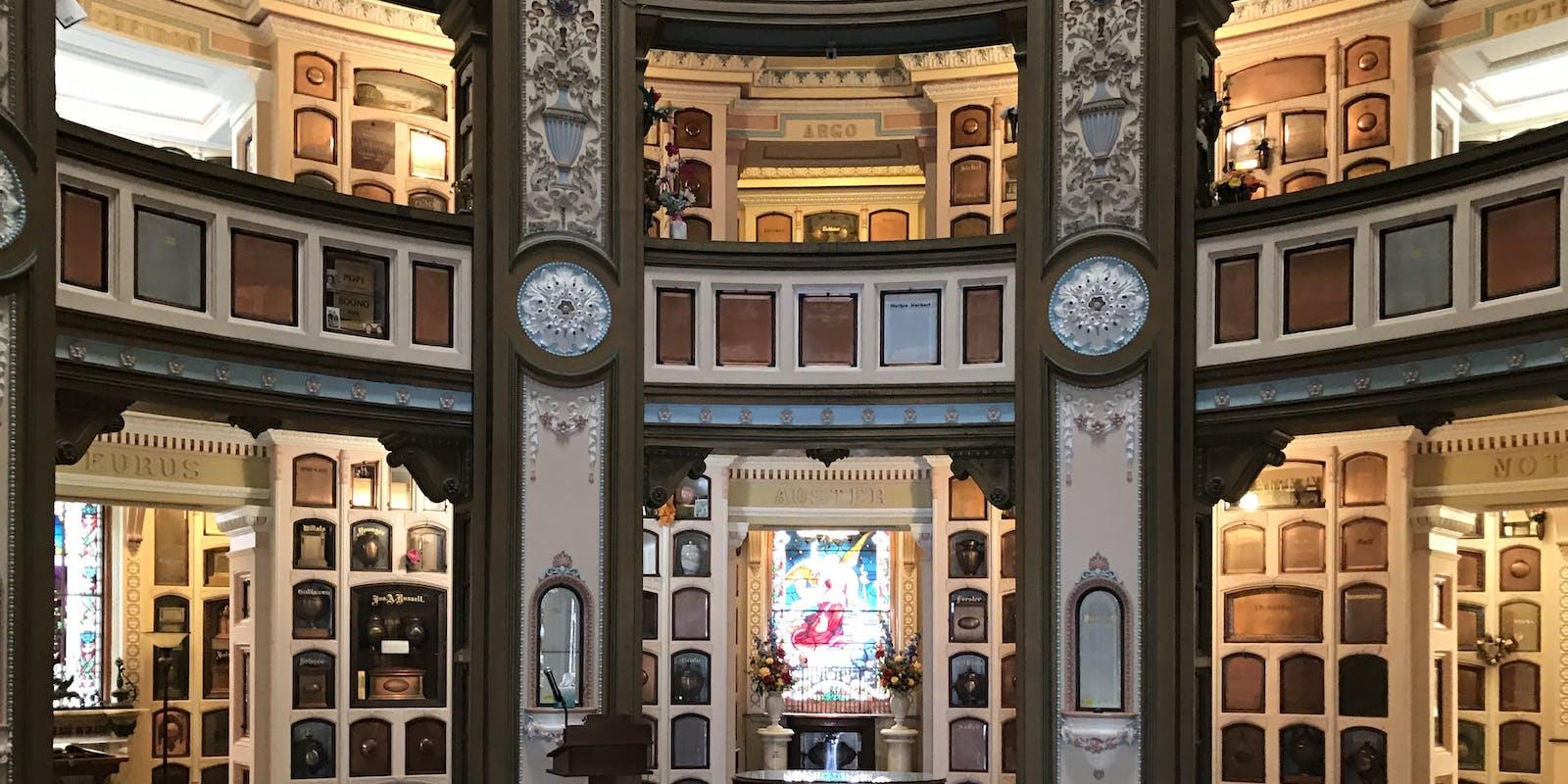 Inside the Columbarium.