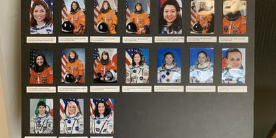 Photos of female astronauts.